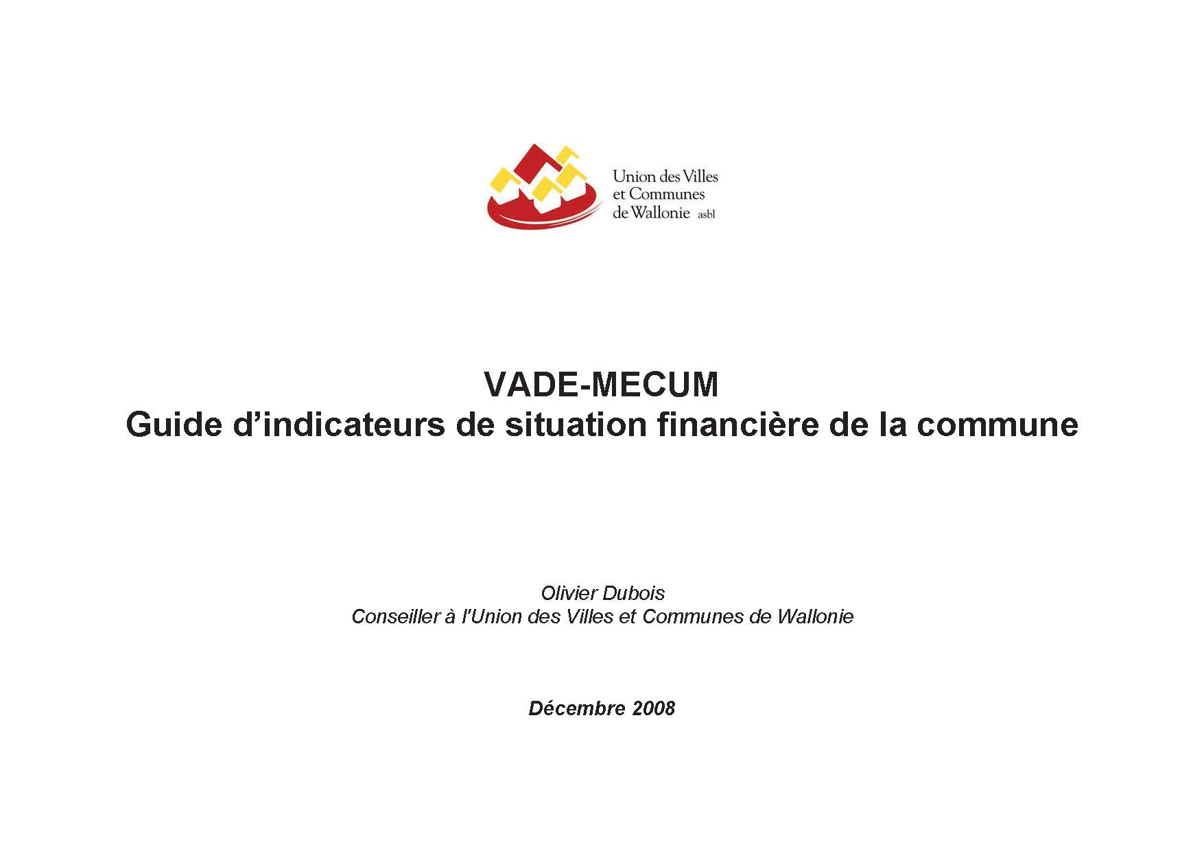 Guide d'indicateurs de situation financière de la commune